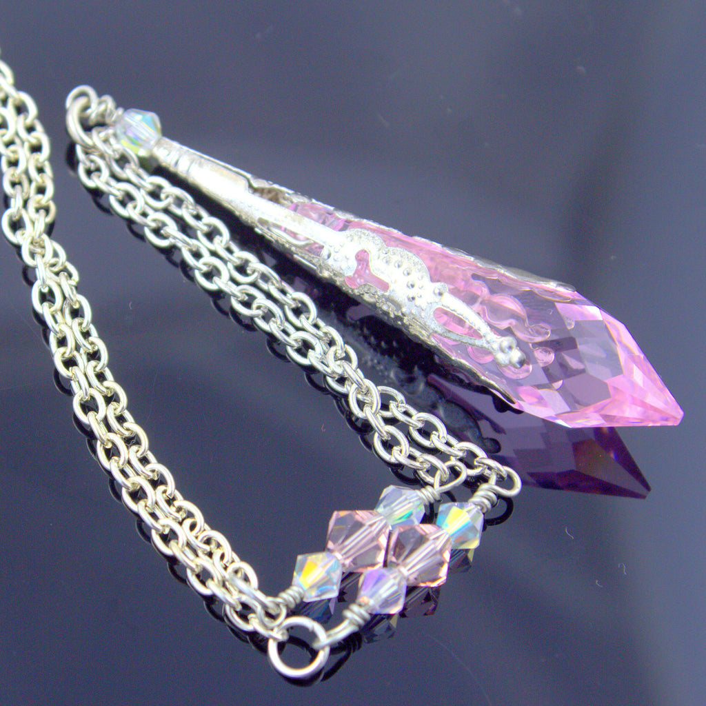 necklace b p pink endless crystal knotted htm l product