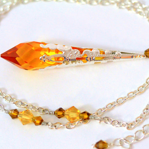 Topaz Necklace Amber Necklace TO-36