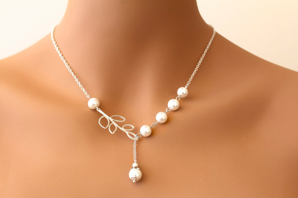 Swarovski Pearl Branch Necklace SERENA