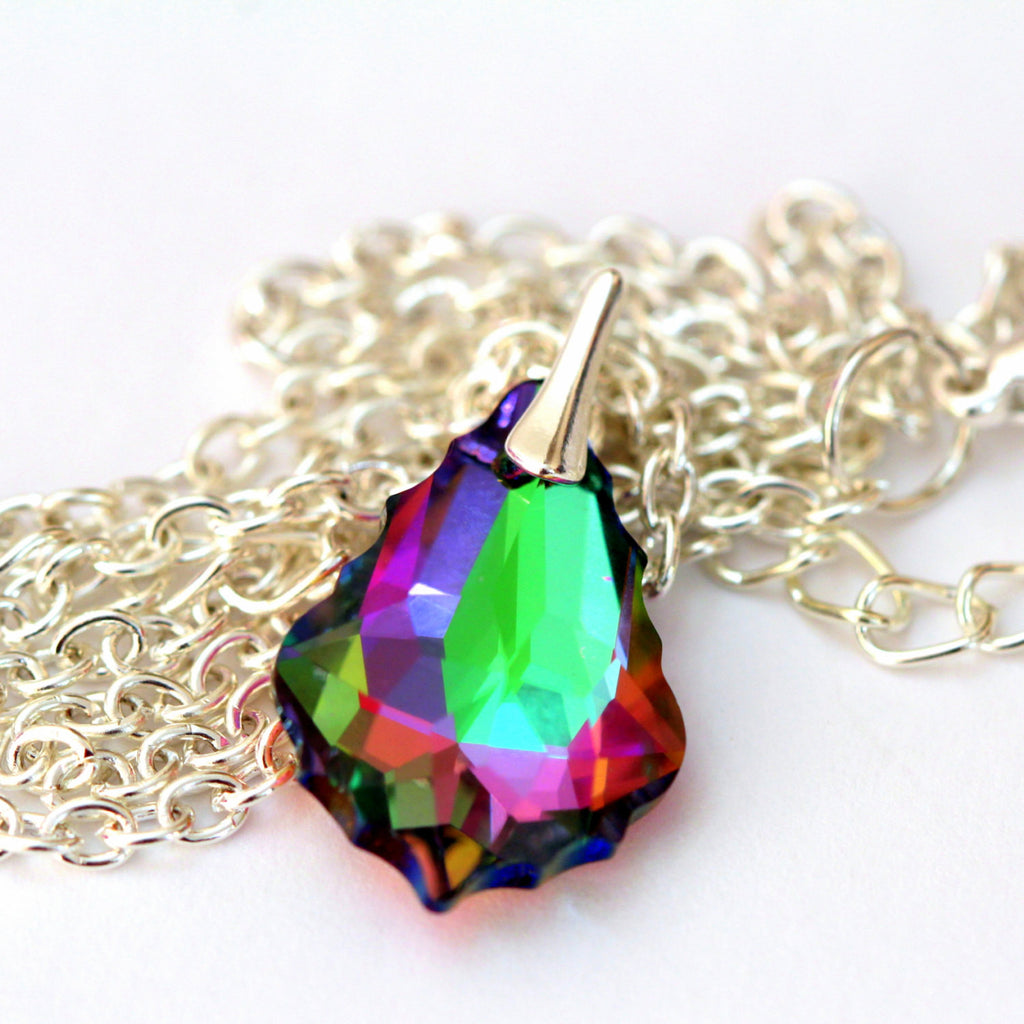 Crystal Pendant Drop Necklace EL-30