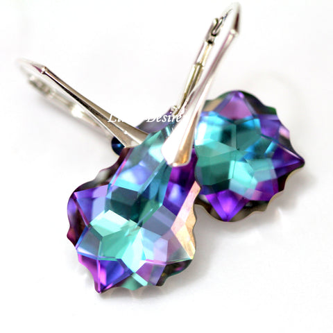 Leverback Earrings Swarovski Vitrail Light VL-30