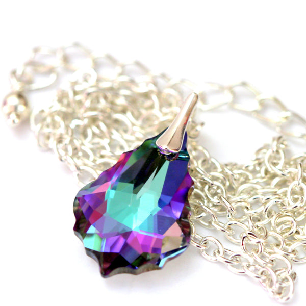 Purple Necklace Crystal Bridesmaid Jewelry VL-30