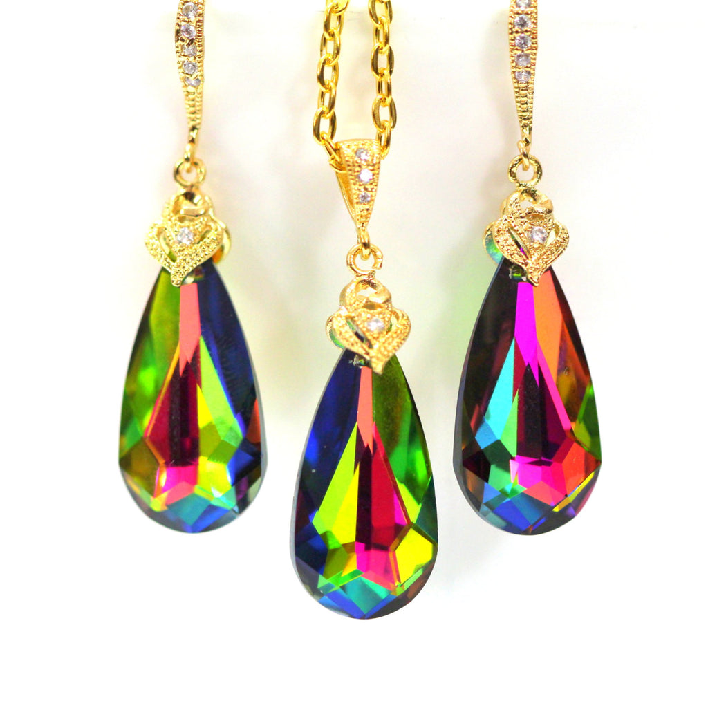 Colorful Crystal Jewelry Set VM-33