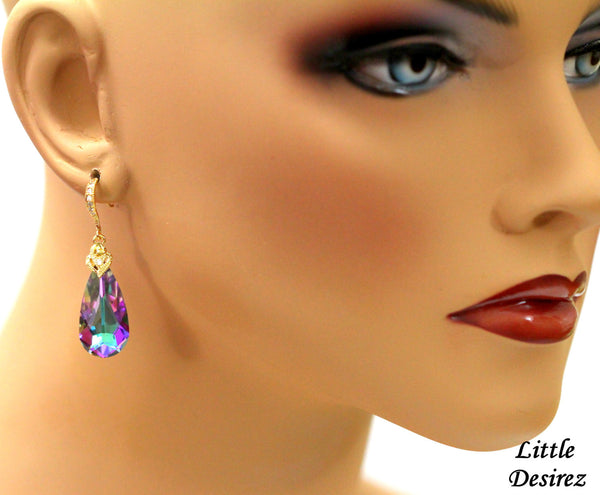 Mauve and Pink Earrings VL-33