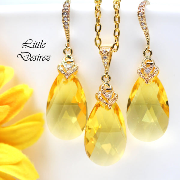 Yellow and Gold Necklace LT-32
