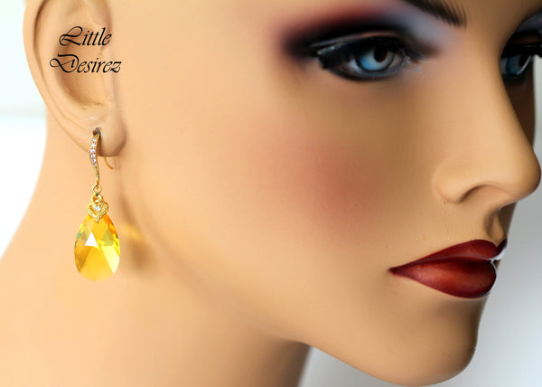 Bridesmaid Yellow Earrings LT-32