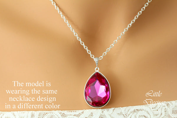 Orange and Pink Necklace Swarovski Astral Pink AP-42