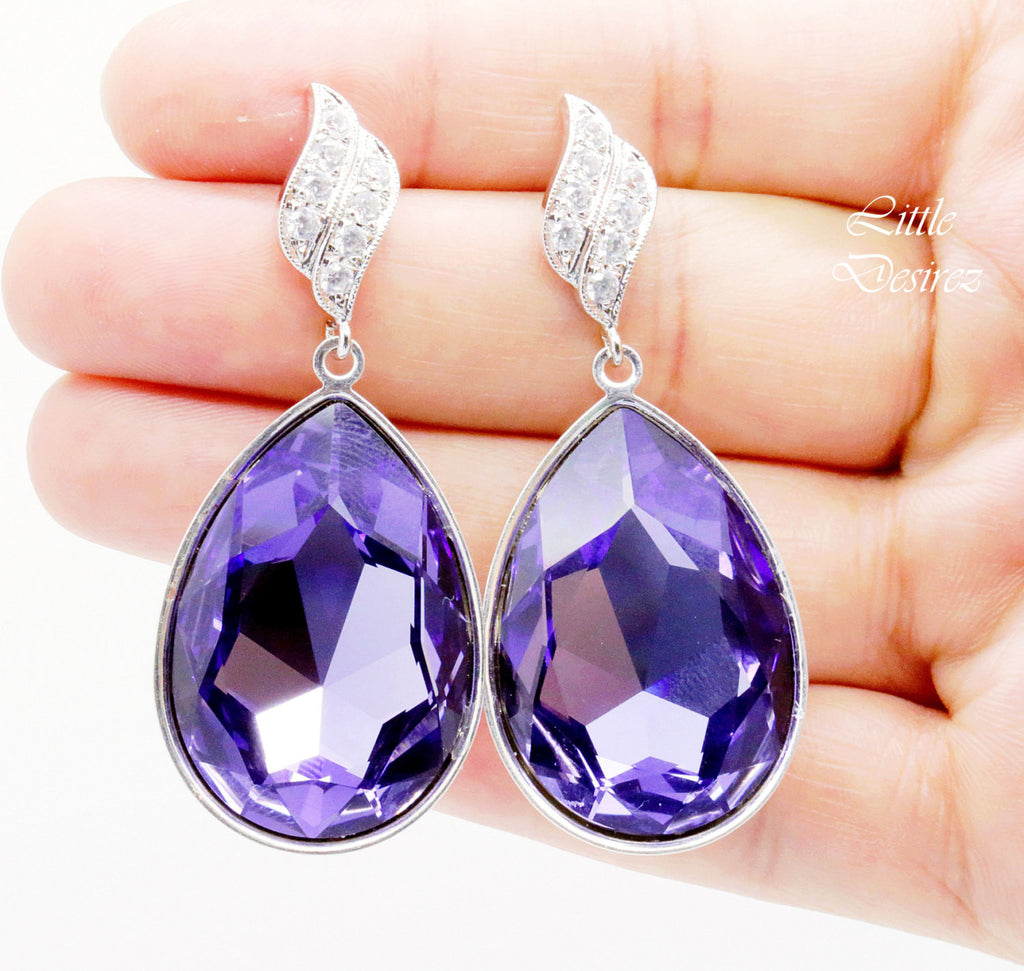 Large Dangle Earrings Teardrop Earrings Big Earrings TZ-42