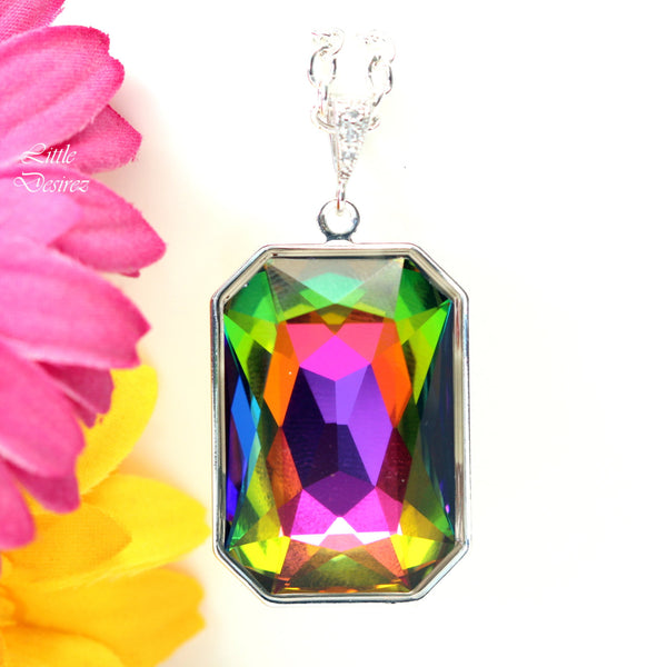 Colorful Necklace Swarovski Statement Necklace VM-41