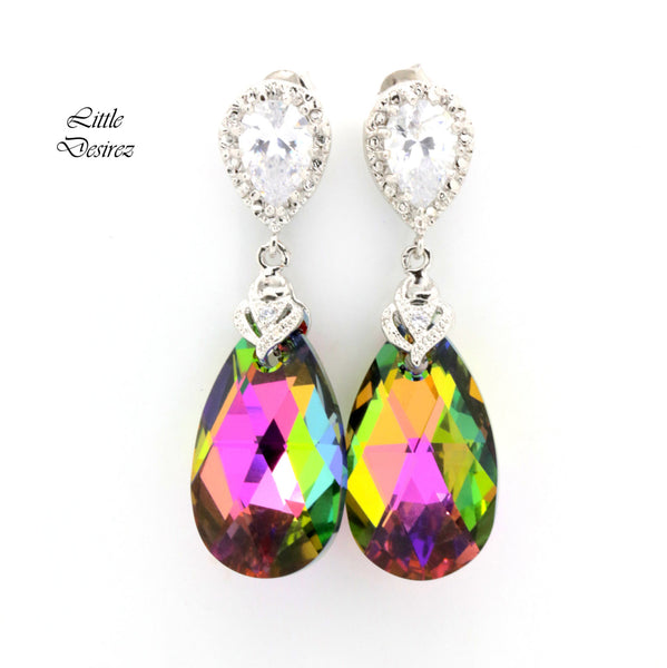 Pink and Green Earrings VM-32