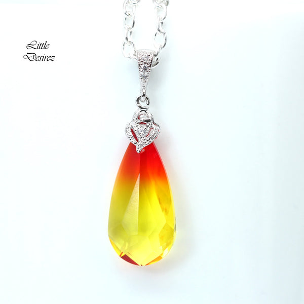 Yellow and Red Swarovski Jewelry FO-33