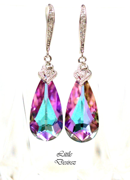 Swarovski Crystal Vitrail Light Earrings  VL-33