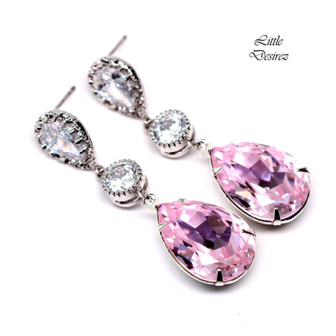 Light Pink Earrings Pastel Pink Earrings RO-31