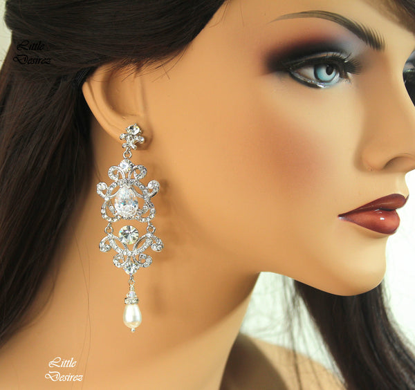 Chandelier Earrings Wedding Jewelry MAYA
