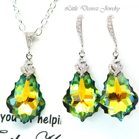 Green and Yellow Jewelry Bridesmaid Jewelry SA-30