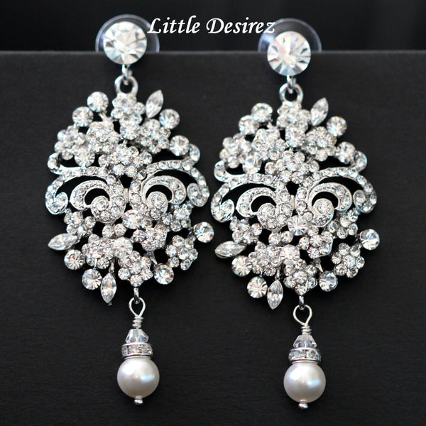 Crystal Bridal Chandelier Earrings ELIZABETH