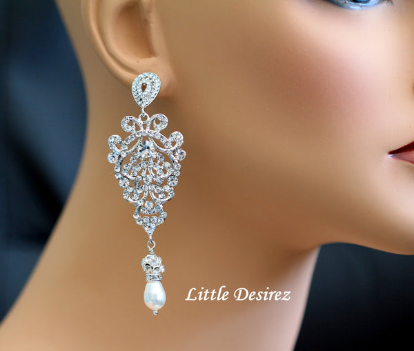Glamorous Wedding Bridal Earrings EMMA