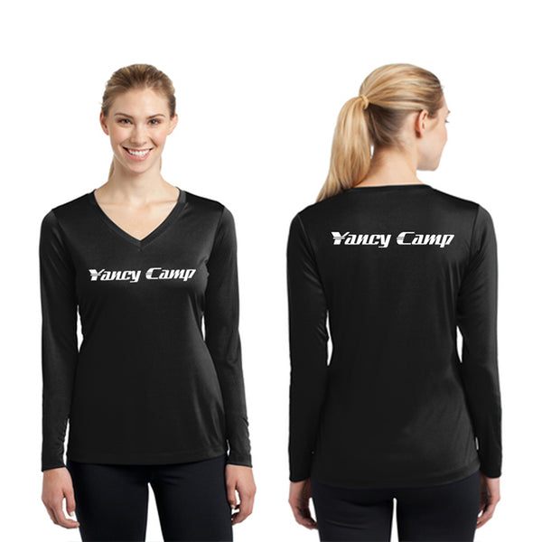 Yancy Camp Sport-Tek Women's Long Sleeve V-Neck Tee Pre-Order