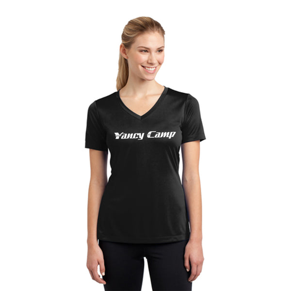 Yancy Camp Sport-Tek Women's Short Sleeve V-Neck Tee Pre-Order