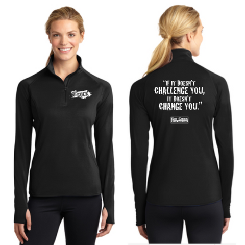 The Suck Sport-Tek Ladies 1/2-Zip Pullover Pre-Order (Black only)