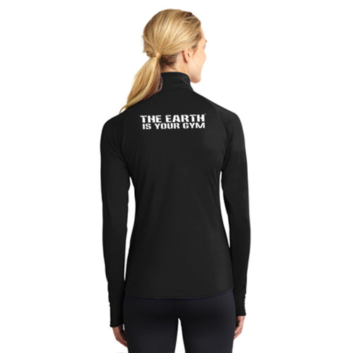 Gut Check Fitness Sport-Tek Ladies 1/2-Zip Pullover Pre-Order (Black only)