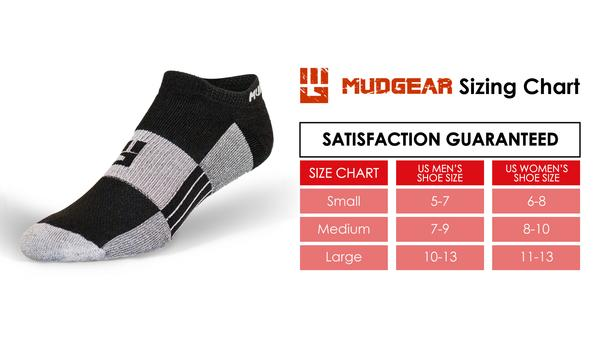 MudGear No-Show Running Socks (2 Pair Pack)