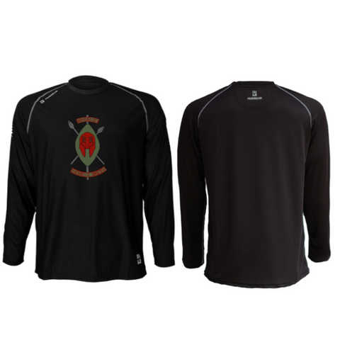 Black Spartans MudGear Men's Loose Tee Long Sleeves Pre-Order