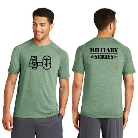 CLEARANCE ITEM - Spartan 4-0 Army Series Sport-Tek Men's PosiCharge Tri-Blend Wicking Raglan Tee
