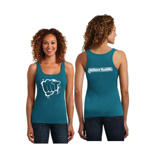 MudMan Training District Made Ladies Mini Racerback Tank (Teal) Pre-Order
