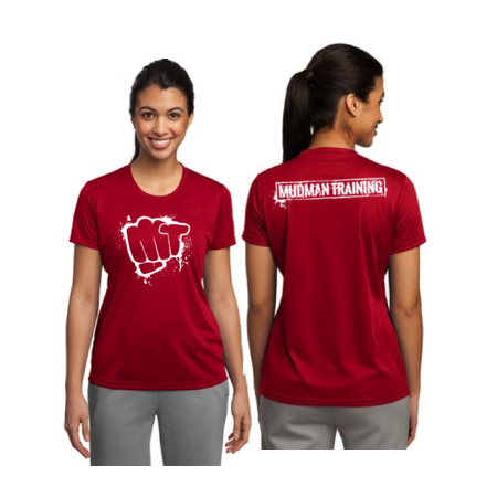 MudMan Training Sport-Tek Ladies Short Sleeve Shirt (True Red) Pre-Order