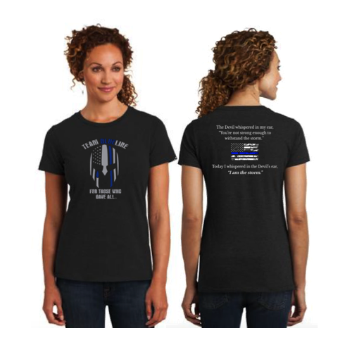 Team Blue Line District Made Ladies Perfect Blend Crew Tee Pre-Order