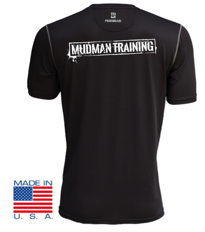 MudMan Training MudGear Fitted Race Jersey v3 Short Sleeve (Badass Black) Pre-Order