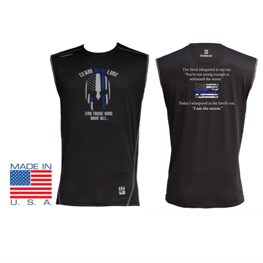 Team Blue Line MudGear Fitted Race Jersey v3 Sleeveless Tee Pre-Order
