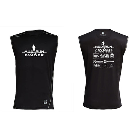 Mud Run Finder MudGear Men's Fitted Race Jersey v3 Sleeveless Tee Pre-Order