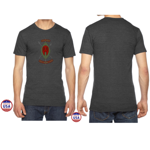 CLEARANCE ITEM - Black Spartans USA Made Men's Tri-Blend Tee