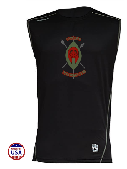Black Spartans MudGear Men's Fitted Race Jersey v3 Sleeveless Tee Pre-Order