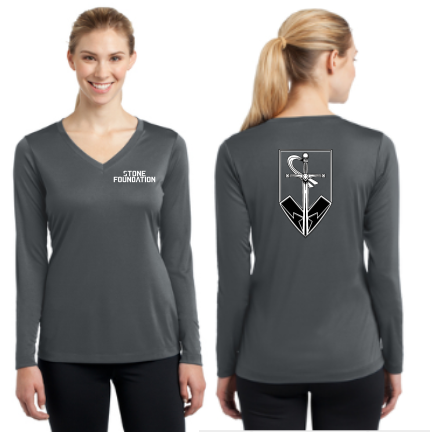 Stone Foundation Sport-Tek Ladies Long Sleeve PosiCharge Competitor V-Neck Tee Pre-Order
