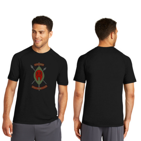 Black Spartans Sport-Tek Men's PosiCharge Tri-Blend Wicking Raglan Tee Pre-Order