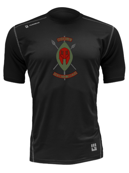 Black Spartans MudGear Men's Fitted Race Jersey Short Sleeve v3 Pre-Order