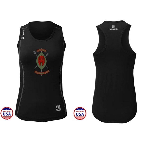 Black Spartans MudGear Women's Performance Racerback Tank Pre-Order