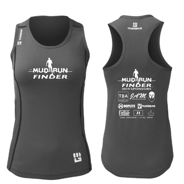 Mud Run Finder MudGear Women's Performance Racerback Tank Pre-Order