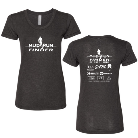 CLEARANCE ITEM - Mud Run Finder MudGear Women's Tri-Blend Tee