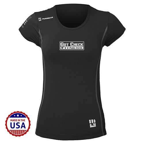 CLEARANCE ITEM - Gut Check Fitness MudGear Women's Performance Short Sleeve
