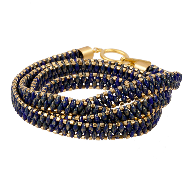 LAPIS AND GOLD | WEAR FOUR WAYS