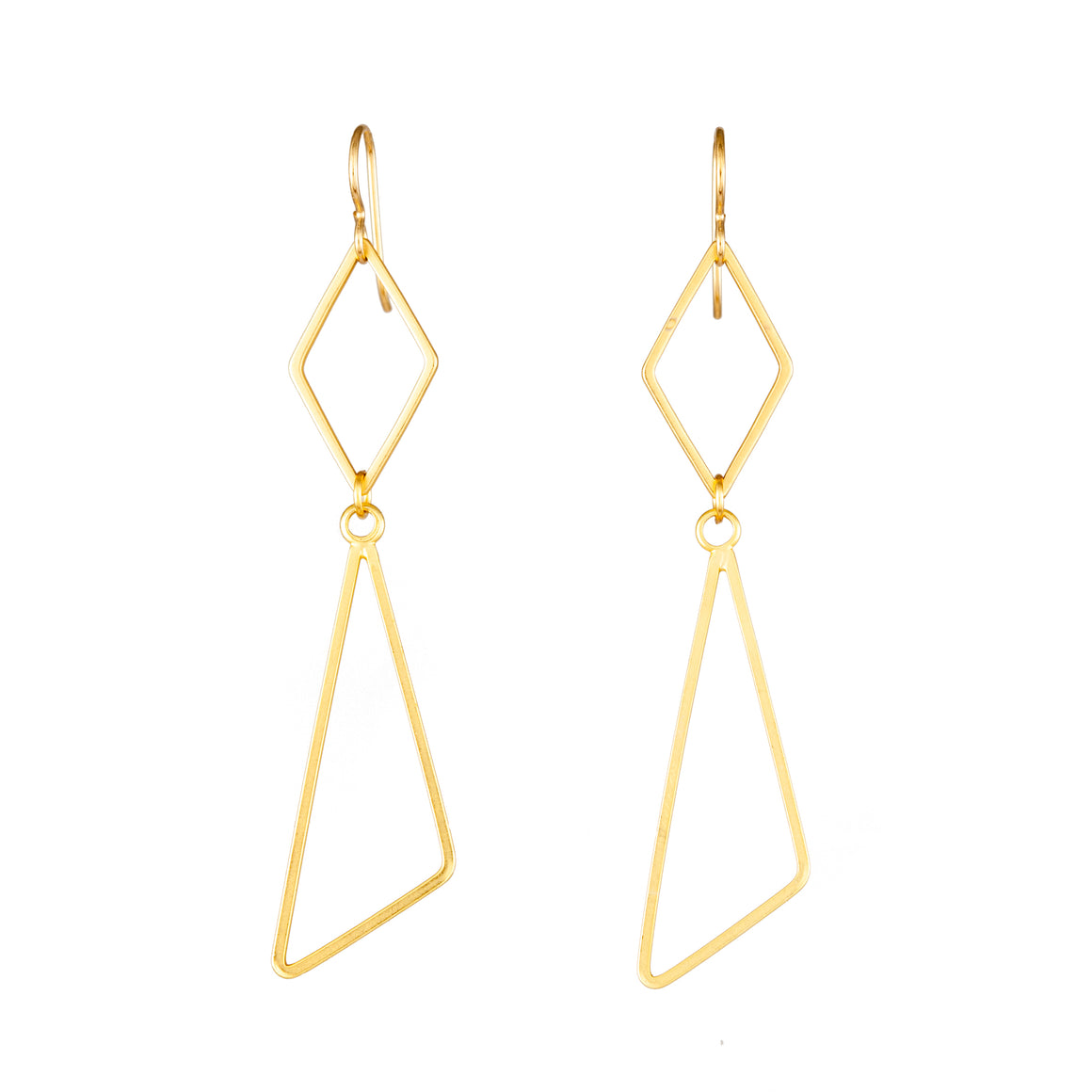 DIAMOND WITH TRI-ANGLE | EARRINGS