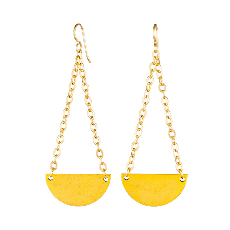 Half Moon Swing Earrings
