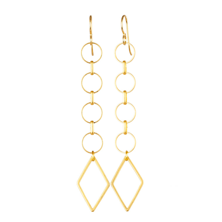 SWINGING DIAMOND | EARRINGS