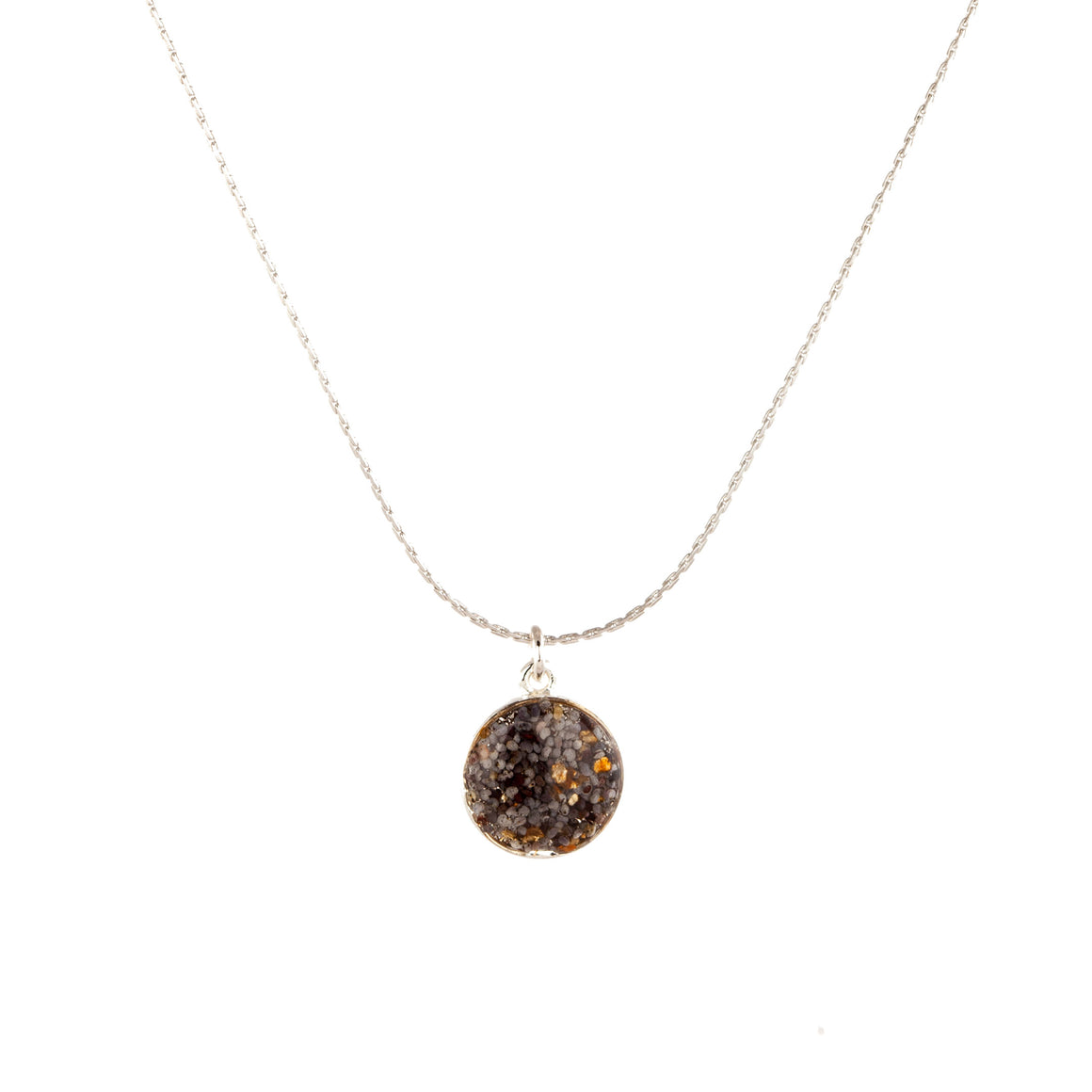 Poppy Seeds | Small Circle Necklace