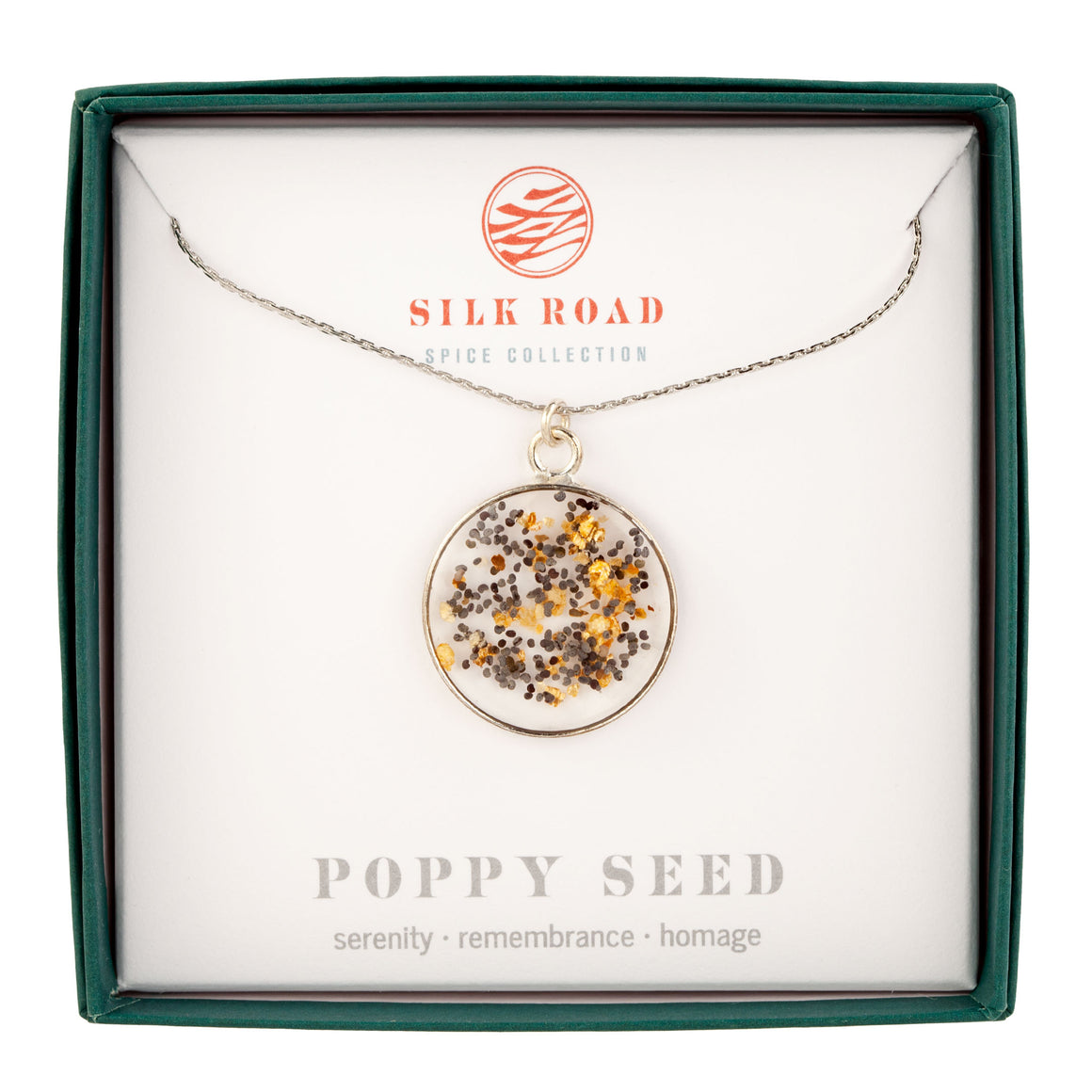 Poppy Seeds | Simple Circle Necklace