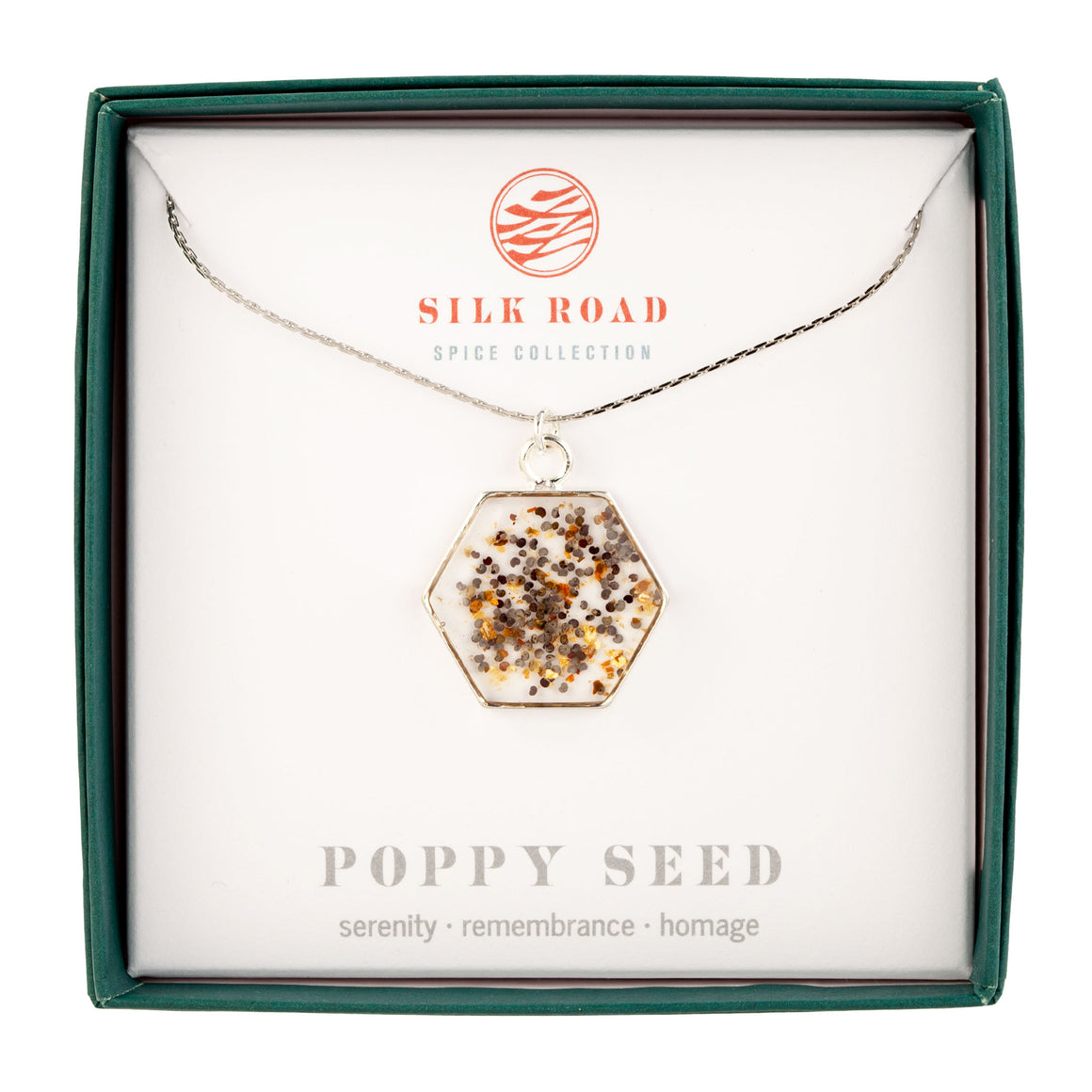 Poppy Seed | Large Hexagonal Necklace